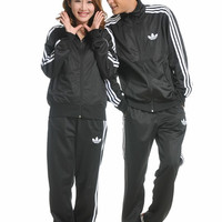 """Adidas"" Unisex Classic Clover Three Bars Long Sleeve Casual Couple Sportswear Set Two-Piece"