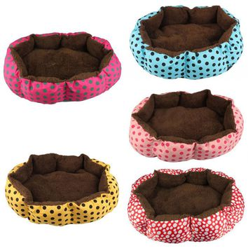 Soft Fleece Pet Dog Puppy Cat Warm Bed House Plush Cozy Nest Mat Pad Auig19