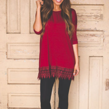 SOLID RED TUNIC