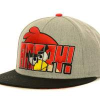 Angry Birds Grey With Print Under Snapback Cap