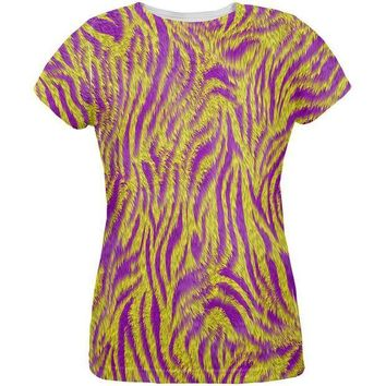 CREYCY8 Mardi Gras Cajun Tiger Costume All Over Womens T Shirt