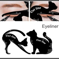 2pcs Cat Eyeliner Stencil kit