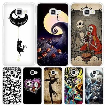 Jack Skellington The Nightmare Before Christmas Hard White Coque Shell Case Cover Phone Cases for Samsung Galaxy A3 A5 A7 2016 2