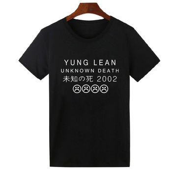 YUNG LEAN UNKNOWN DEATH Sad Boys T-shirts Men Cotton Short Sleeve Summer T Shirts Hip Hop Under Shirts Tees
