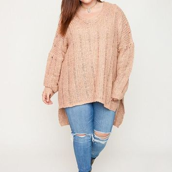 Plus Sized Knitted Sweater
