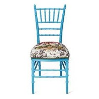 Gucci Chiavari chair with embroidered moth