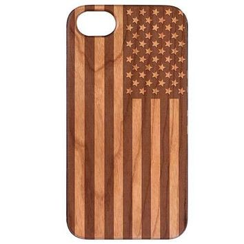 USA Flag Wooden Phone Case Phone
