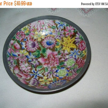 SALE 50% Off T.F.F. japanese porcelain and pewter bowl