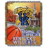 Kentucky Wildcats NCAA Woven Tapestry Throw (Home Field Advantage) (48x60)