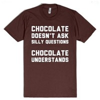 Chocolate Is My Best Friend-Unisex Brown T-Shirt