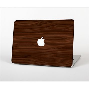 The Dark Brown Wood Grain Skin Set for the Apple MacBook Air 13""