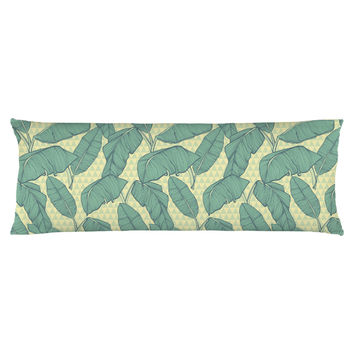 Seamless Palm Leaves Body Pillow