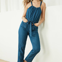 BDG Josephine Chambray Overall Jumpsuit   Urban Outfitters