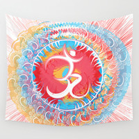 Mandala tapestry, Om symbol, Psychedelic tapestry, bohemian tapestry, hippie wall tapestry, wall hanging