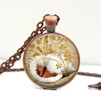 Conch Shell Necklace Glass Dome Pendant Picture Pendant (1503)