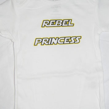 Rebel Princess Baby Bodysuit.