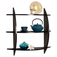 DanyaB 3 Tier Half Moon Shelf Unit
