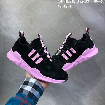 HCXX A499 Adidas Equipment Support ADV EQT Suede Casual Running Shoes Black Pink