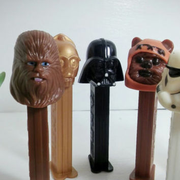 Vintage Star Wars Pez 1990's Collectible / Star Wars Return of the Jedi Pez Dispenser Lot of 7