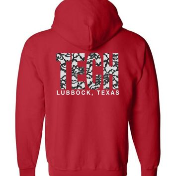 Official NCAA Texas Tech University Red Raiders TTU Masked Raider WRECK EM! Lubbock Zip Hoodie - TEXT0002