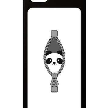 Funny Panda Peeking Out of Zipper iPhone 5 / 5S Grip Case  by TooLoud