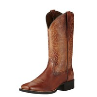 Ariat Boots Women's Natural Rich Round Up Remuda Cowgirl Boot #10019905