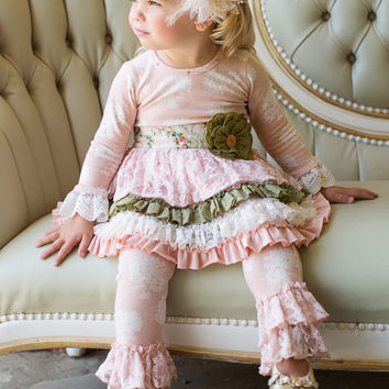 Giggle Moon Tree of Life Tutu Dress with Lace Leggings