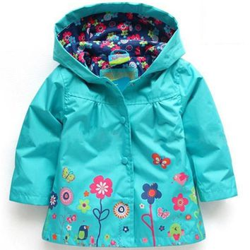 2017 Autumn Winter Girls Jacket For Girls Windbreaker Boys Jacket Kids Raincoat Trench Coat Children Outerwear Girls Clothes