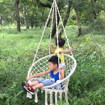 Special Style Garden Swing Chair PP Rope Max Weight: 260 Pounds Lovely Children Hammock Chair