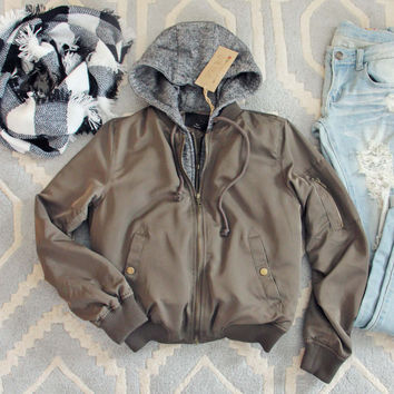 Forest Smoke Hooded Coat