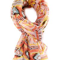 Tribal Print Woven Scarf