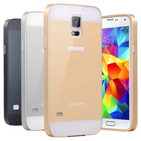 Luxury Aluminum Case for Samsung Galaxy S5 i9600 Caso Capa Full Protective Aluminum Frame+PC Cover