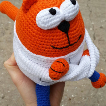 Crochet  cat, amigurumi cat doll, stuffed cat, knitted  cat