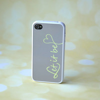 Song Lyrics in Gray + Yellow + White Silicone iPhone Case