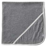 Burt's Bees Baby Organic Double Ply Hooded Knit Terry Towel - Heather Grey