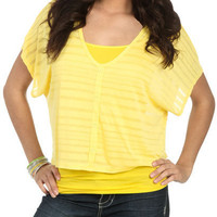 Burnout Button Up Tee - Teen Clothing by Wet Seal