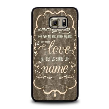 THE AVETT BROTHERS QUOTES Samsung Galaxy S6 Edge Plus Case Cover