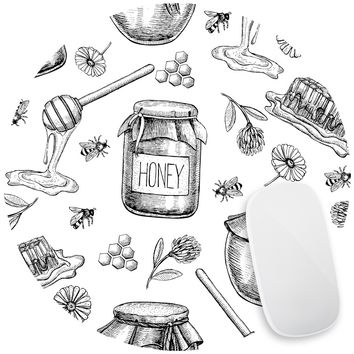 Honey Bee Sweet Mouse Pad Decal