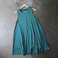 BSIC - sleeveless swing dress - teal