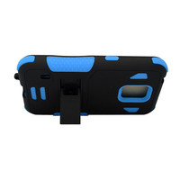 Samsung G870 (Galaxy S5 Active) Black PC + Blue Silicone Armor Case w/Stand #54849