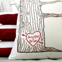 cover WITH insert  custom heart  tree print pillow  by cozyblue