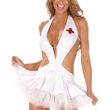 Atomic White Cut Out Nurse Costume