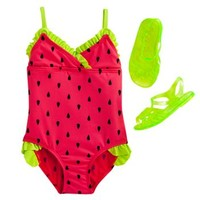 Wipette Watermelon One-Piece Swimsuit - Baby