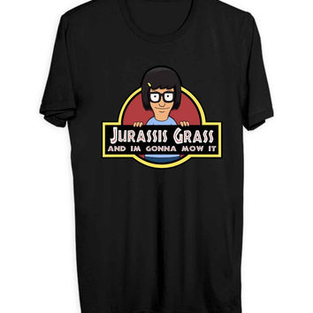 Jurassis Grass Tina Belcher Men T Shirts