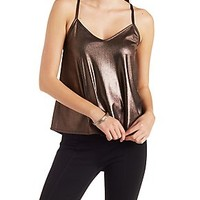 METALLIC TANK WITH CAGED BACK