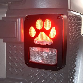 Paw Print Brake Light Covers for Jeep Wranglers JK & JKU, TJ & TJU, LJ, YJ, & CJ