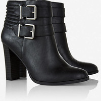 Ribbed Double Buckle Bootie from EXPRESS