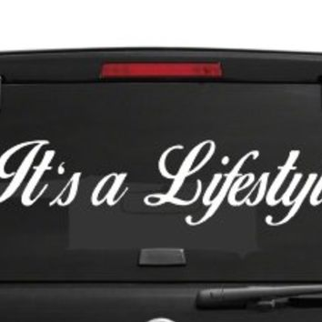 "Dabbledown Decals 36"" It's a Lifestyle Car Truck Window Windshield Lettering Decal Sticker Decals Stickers JDM Drift Dub Vw Lowered Jdm Fresh Detailed Stance Fitment 4x4"
