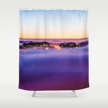 Purple Haze Shower Curtain by Gallery One