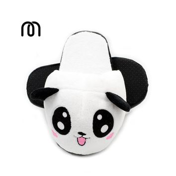 Millffy plush panda animal big head lovely plush slipper adult funny slippers panda sl